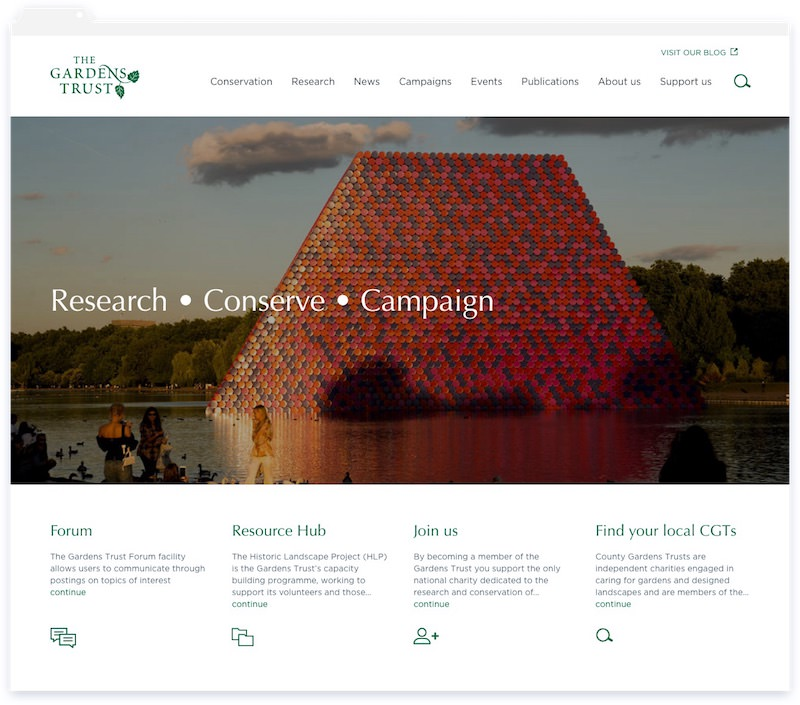 The Gardens Trust Website
