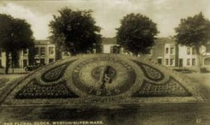 The floral clock as it appeared in its first year, 1935